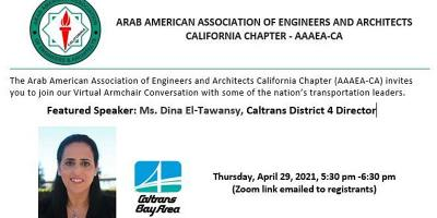 Armchair Chat with Caltrans District 4 Director, Dina El-Tawansy