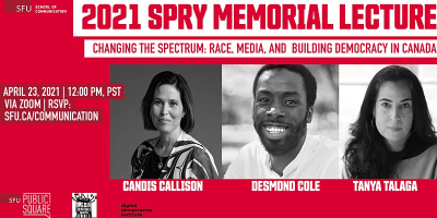 The 2021 Spry Memorial Lecture