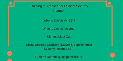 Training in Arabic about Social Security Income