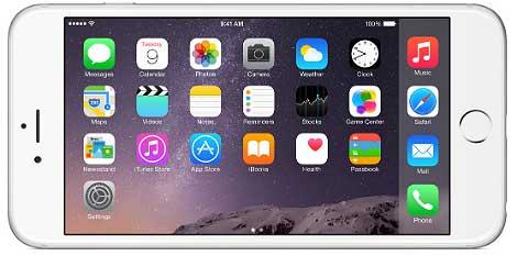 إمكانية استخدام iPhone 6 Plus في الوضعية الأفقية
