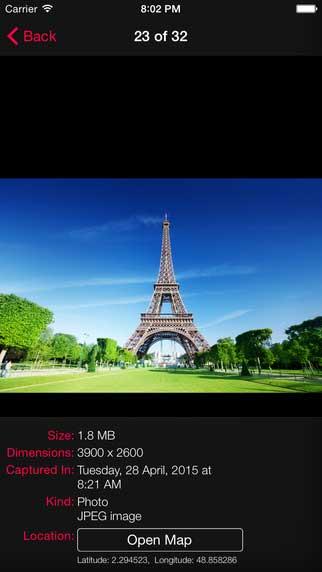 تطبيق PhotoInfo لقص الصور وتدوير الفيديو ومعرفة تفاصيل الصور