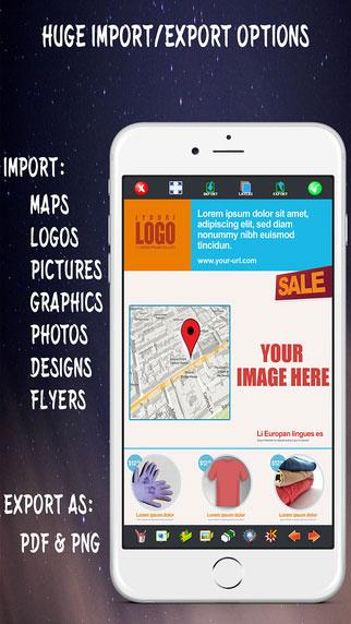تطبيق Create Flyers & Logos أداة احترافية لتصميم الشعارات والبطاقات