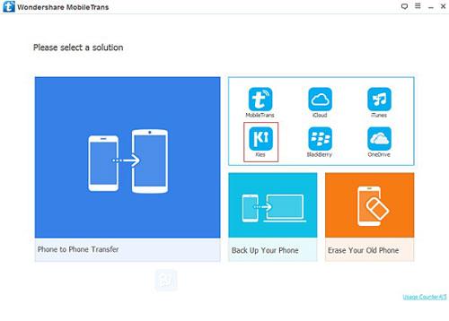 برنامج Mobiletrans لنقل الملفات من هاتف إلى آخر بضغطة واحدة وإدارة