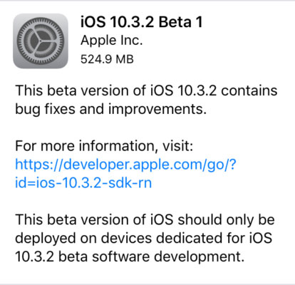 آبل تطلق الإصدار iOS 10.3.2 للمطورين - ما هو الجديد ؟