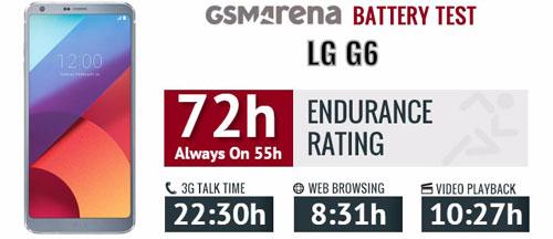 اختبار أداء بطارية هاتف LG G6 - نتائج جيدة لكنها غير منافسة !