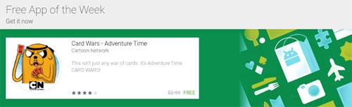 جوجل تضيف قسم تطبيق الأسبوع المجاني لمتجر بلاي ستور
