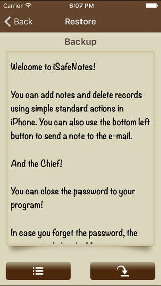 تطبيق iSafeNotes لحفظ ملاحظاتك المهمة