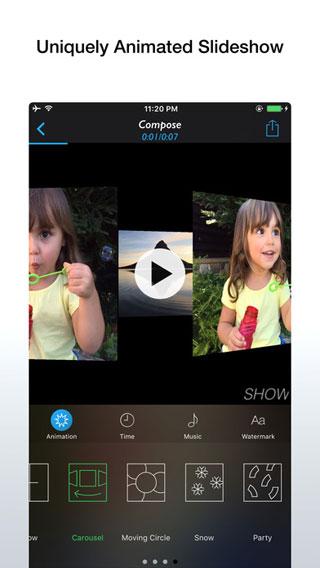 تطبيق Animated Show لإنشاء فيديو من ألبوم صورك