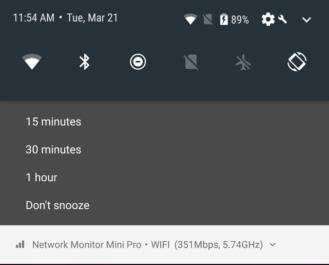 ميزة تأخير عرض التنبيهات Notification Snooze