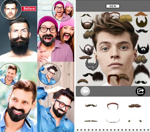 تطبيق Beard & Mustache لتغيير الوجوه في الصور