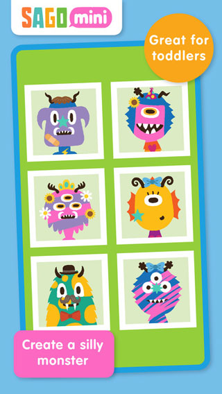 تطبيق Sago Mini Monsters لتلوين الوحوش