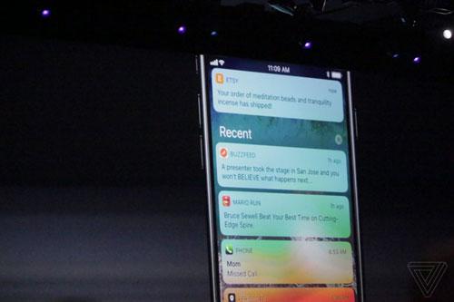 مركز الإشعارات iOS 11