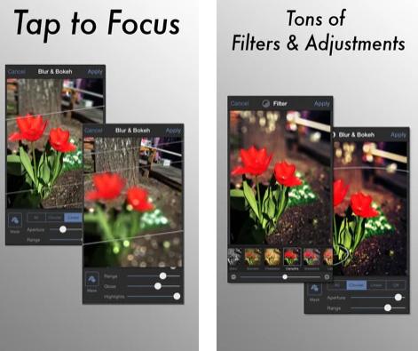 تطبيق Tadaa SLR للتصوير الاحترافي على الايفون القديم