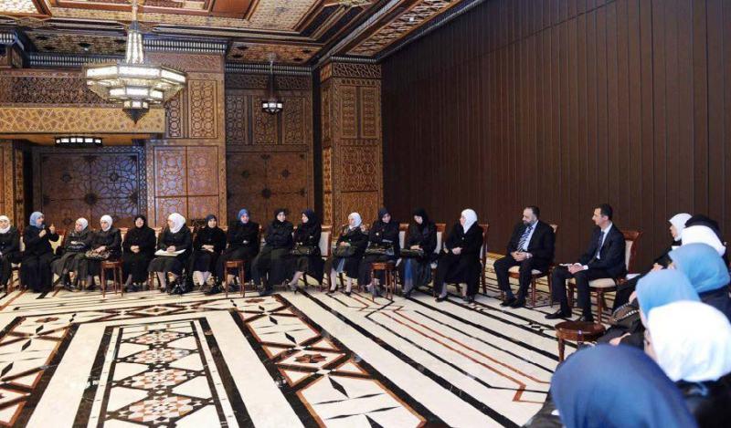 القبيسيات لقاء الرئيس بشار الأسد