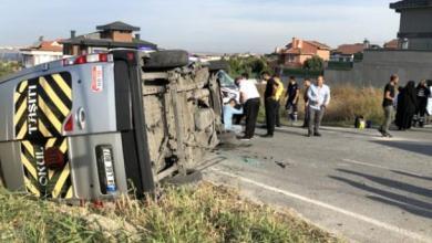 إنقلاب حافلة مدرسية في بلكدوزو غرب إسطنبول وإصابة 14 طالب 5