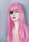 Pink Hair with Eye Patch