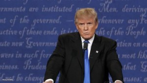 Republican U.S. presidential nominee Donald Trump reacts during the first presidential debate with Democratic U.S. presidential nominee Hillary Clinton at Hofstra University in Hempstead, New York, U.S., September 26, 2016.   REUTERS/Lucas Jackson