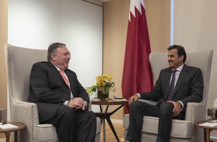 أمير قطر وبومبيو يناقشان التطورات الإقليمية والدولية