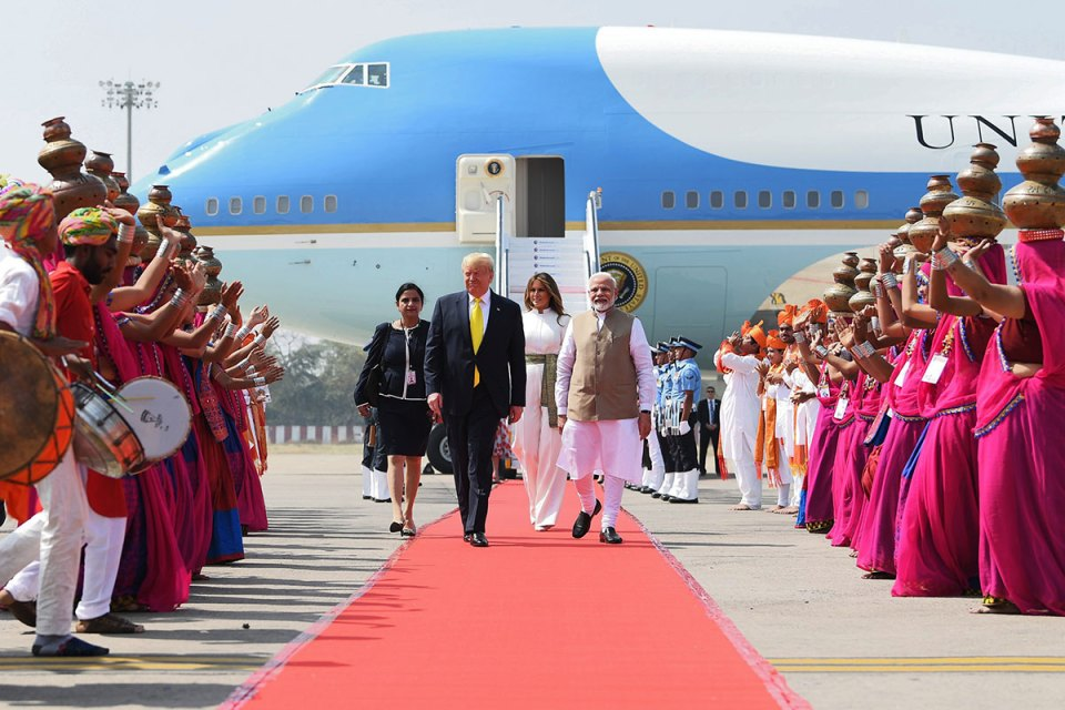 India rolls out the red carpet for President Donald Trump
