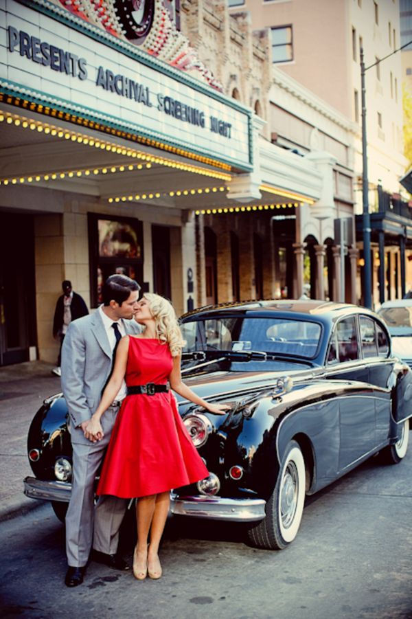 50s Classic Cars Wallpaper Engagement Photo Shoot Themes For Creative Couples