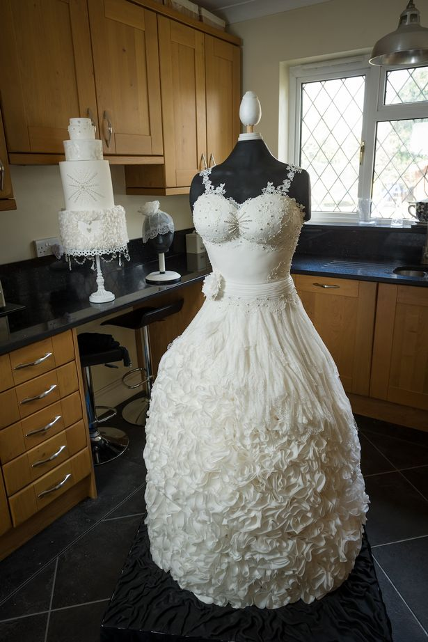Beautiful Wedding Dress Made Out Of Cake Goes Viral  Arabia Weddings
