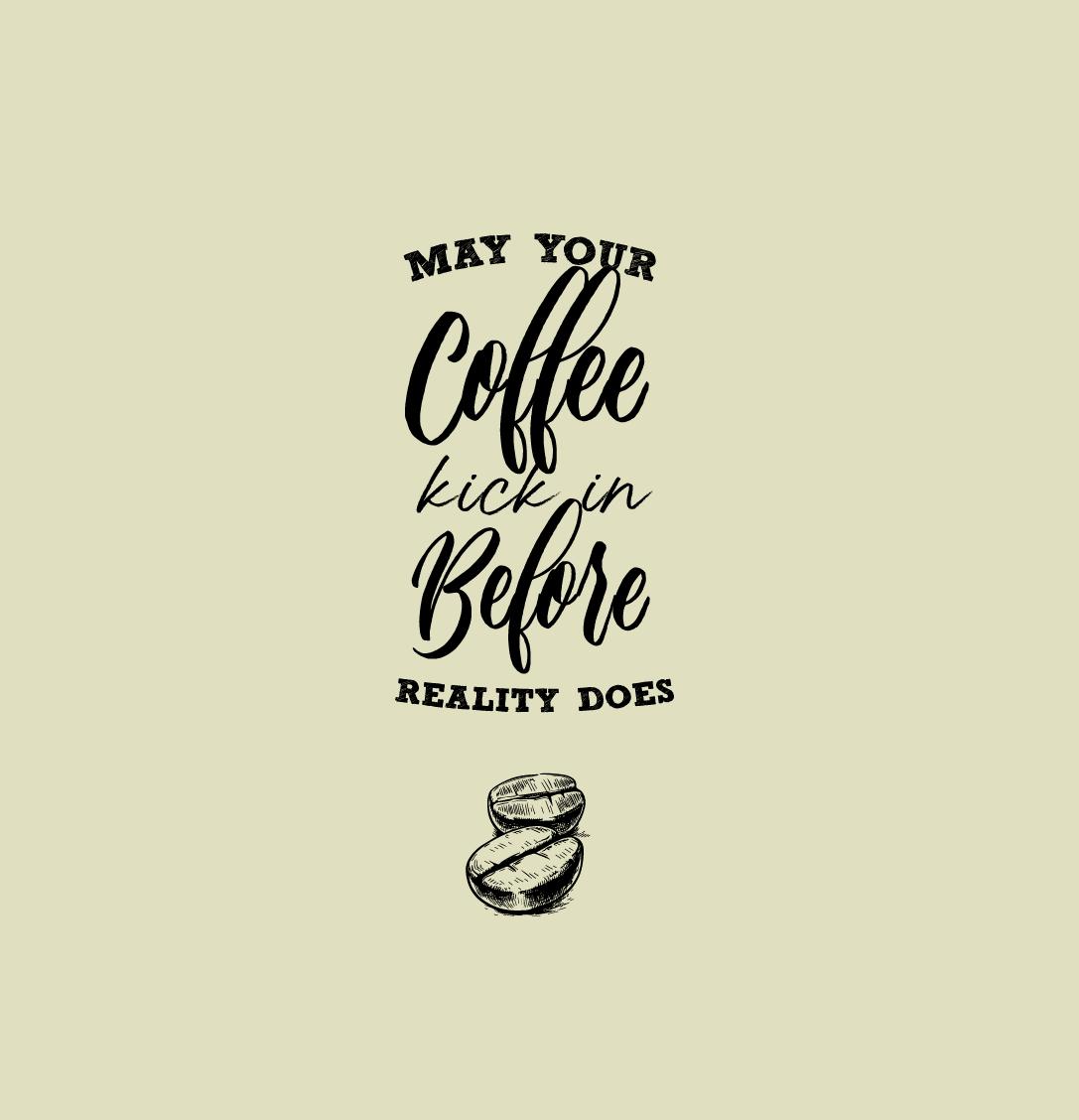 Arabica koffiebonen bij het opstaan
