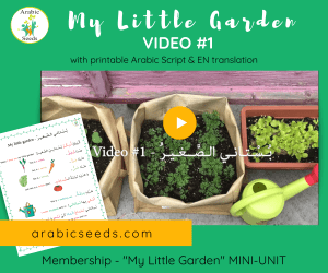 My Little Garden - Arabic video for kids printable Arabic Seeds unit