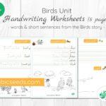 Birds Story Handwriting Worksheets