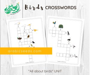 Arabic birds crosswords - themed unit - Arabic Seeds