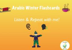 Winter flashcards & sentences video