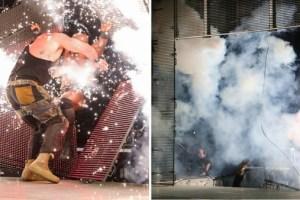 لاشلي و سترومان تحطم المسرح و تفجيرات