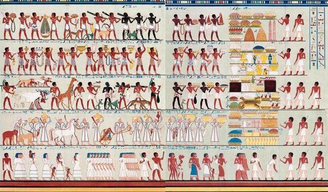 جدارية مصرية قديمة