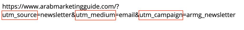صورة لوسوم البيانات على روابط UTM