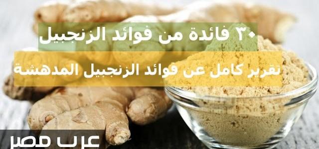 الزنجبيل وافضل وصفه لذيذه وصحية لفوائده العديدة تعرف عليها | شبكة عرب مصر
