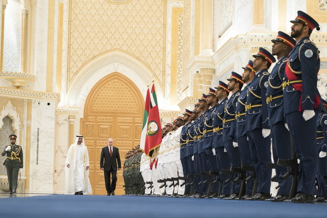 Vladimir Putin in Abu Dhabi