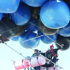 Chair With Balloons Blue Chairs Lawn Balloon Flight Halted By Weather Arab News
