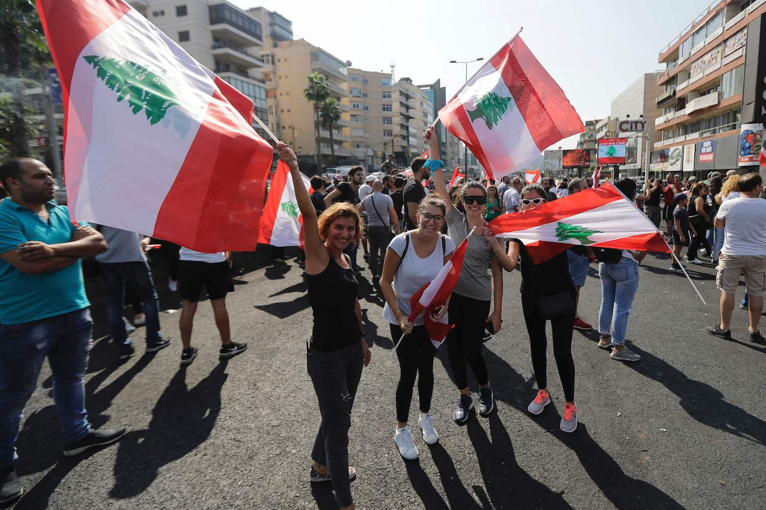 Tens of thousands gather across Lebanon for third day of protests | Arab News PK