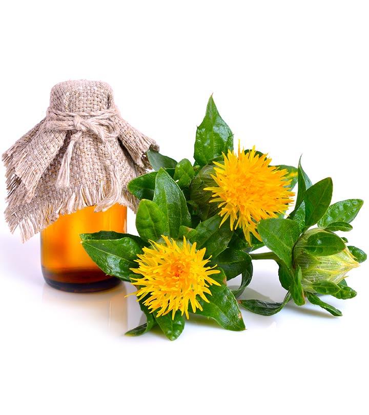 فوائد والاستخدامات والآثار الجانبي لزيت القرطم (زيت العصفر) للبشرة Safflower-Oil-Good-for-Skin