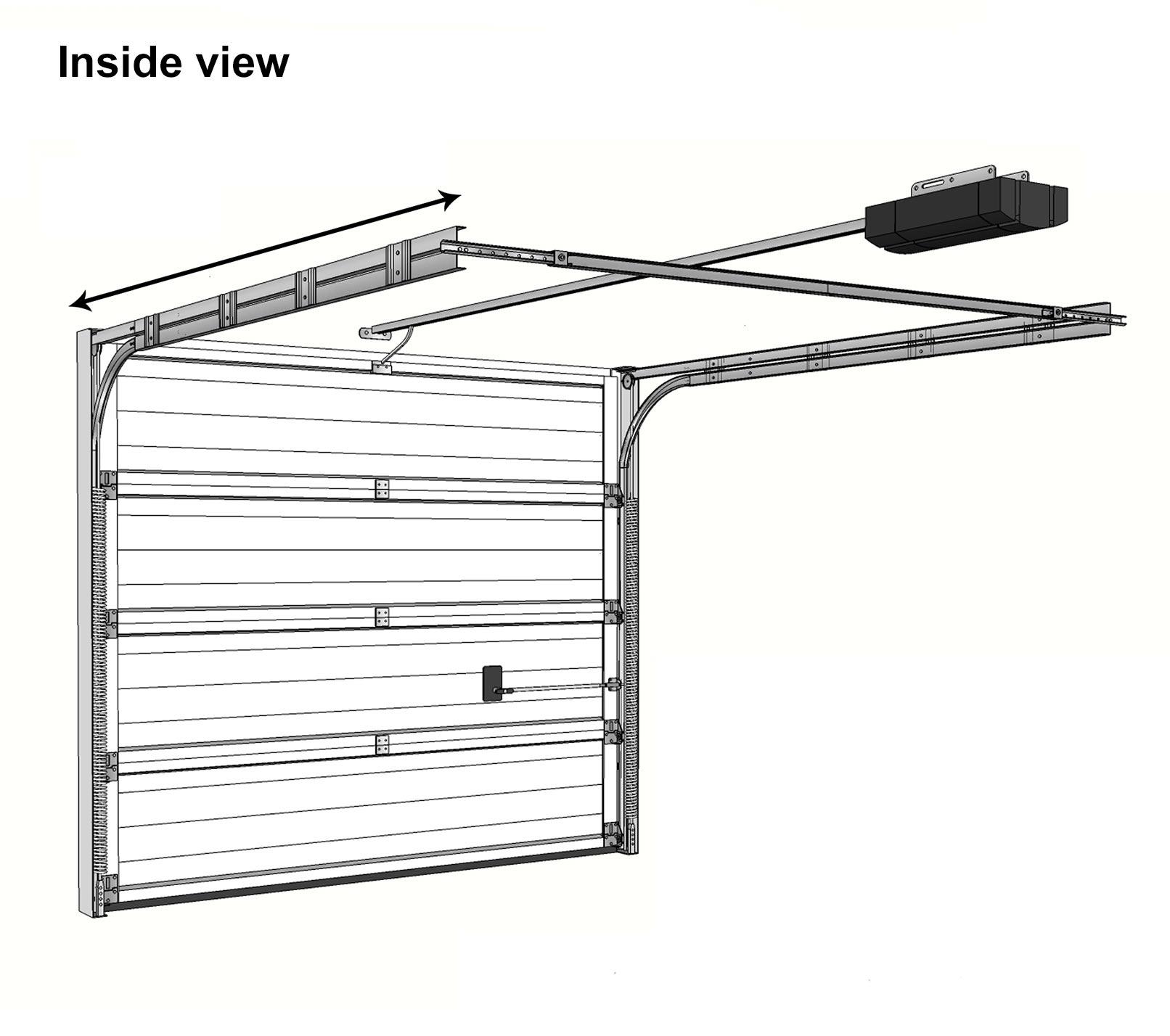 hight resolution of sectional garage door diagram