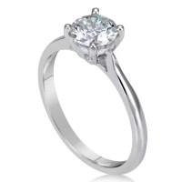 1 Carat Round Cut Diamond Engagement Ring   Ara Diamonds