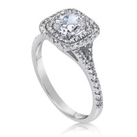 2 Carat Cushion Cut Diamond Engagement Ring | Ara Diamonds