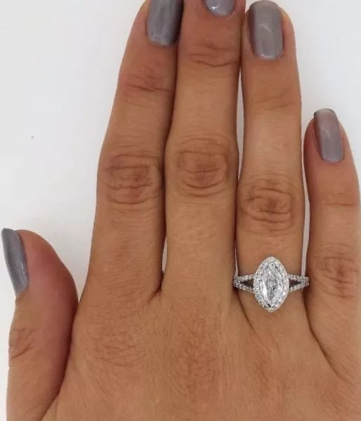 2 Carat Marquise Cut Diamond Engagement Ring