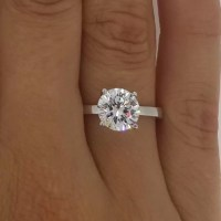2 Carat Round Cut Diamond Engagement Ring | Ara Diamonds