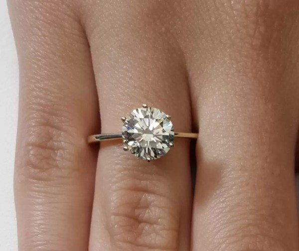 2 Ct Round Cut Vs1 Diamond Solitaire Engagement Ring 14K Yellow Gold 3