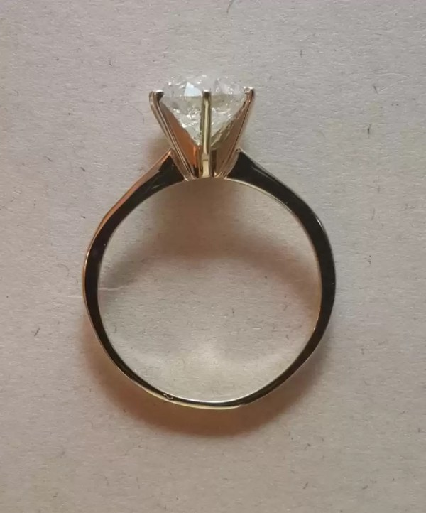 2 Ct Round Cut Vs1 Diamond Solitaire Engagement Ring 14K Yellow Gold 4