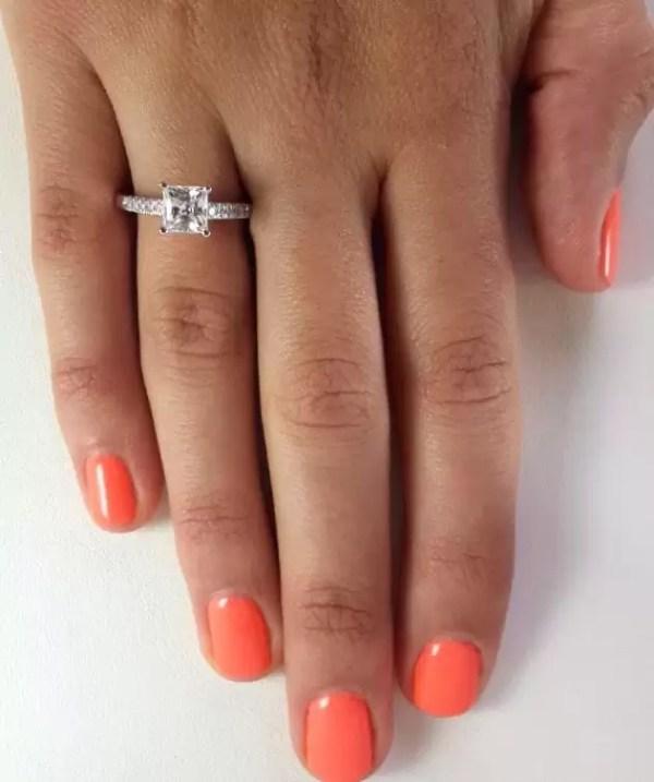 2.00 Ct Princess Cut D Vs1 Diamond Solitaire Engagement Ring 14K White Gold 4