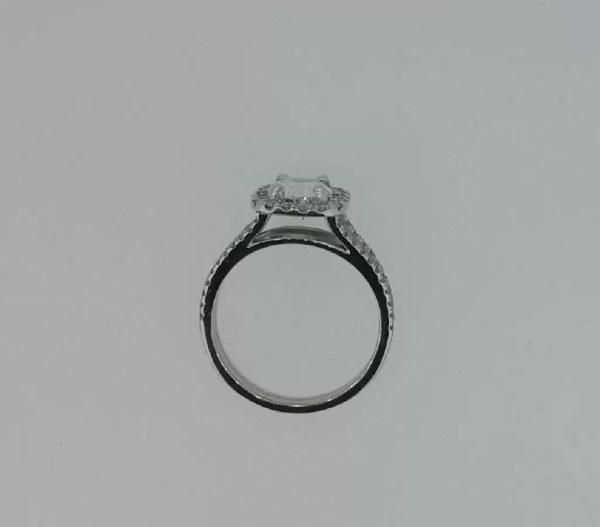 2.05 Carat Round Cut Diamond Engagement Ring 18K White Gold 3