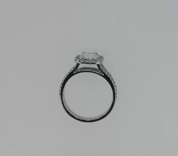 2.05 Ct Round Cut Vs Diamond Solitaire Engagement Ring 18K White Gold 3
