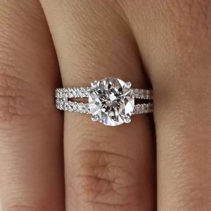 2.20 Ct Round Cut D/Si1 Diamond Solitaire Engagement Ring 14K White Gold