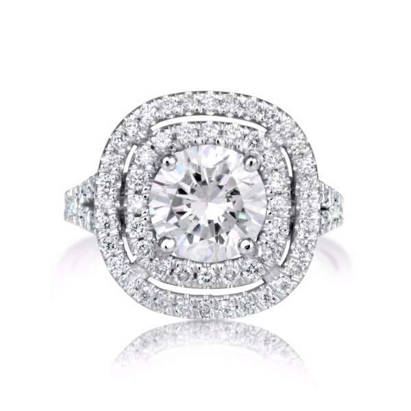 2.32 Ct Round Cut Si1 Diamond Solitaire Engagement Ring 14K White Gold 4